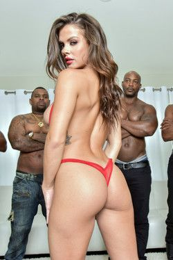 Five huge black dicks for Keisha Grey