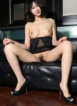 Oriental beauty, widely spaced legs