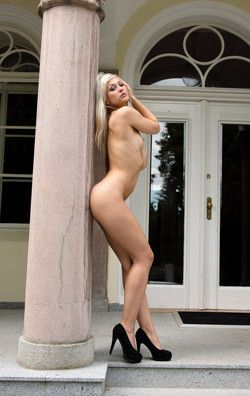 Tall blonde in heels, different camera..
