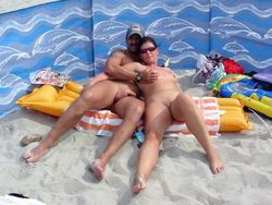 Wild orgy on the nudist beach,German..
