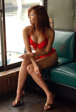 Cute japanese girl Kaori posing in..