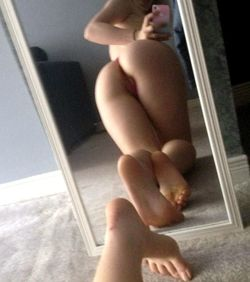 Long-legged nude girls and their round..