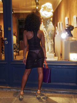 Beautiful french ebony exhibitionist..