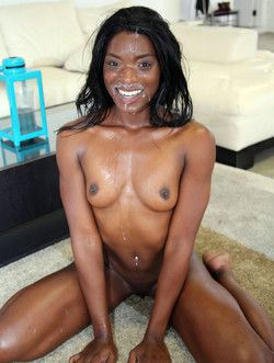 Black cutie Ana Foxxx gets her face..