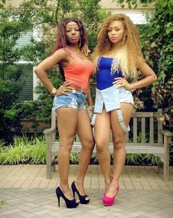Vacation photos with stunning ebonies..