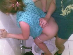 Wild chinese girl hot fucked in toilet..