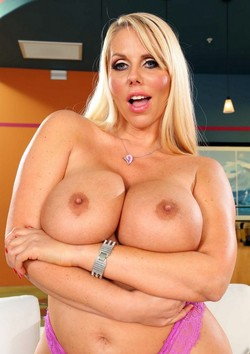 Enjoy huge melons of Karen Fisher from..