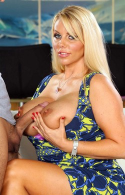 Karen Fisher suck big cock of her..