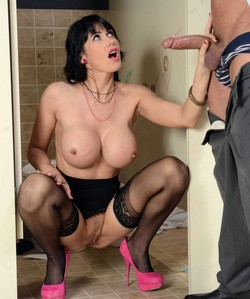 Big melons MILF rides cock after glory..
