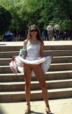 Nude 18yo girl tourist in Crimea
