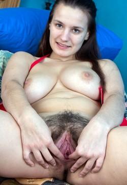 Beautiful Khatherina with hairy carmel..