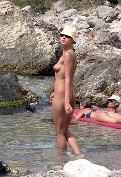 Fully nude Crimean babe on the beach..