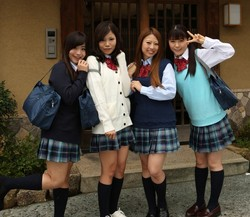 Asian school gangbang from 10musume.com