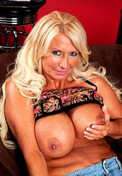 Busty blonde MILF Annellise produces..